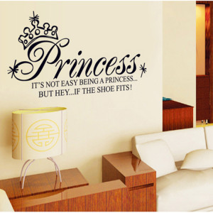 NEW-Removable-Vinyl-Quote-Art-Wall-Sticker-Decal-Mural-Decor-Princess ...
