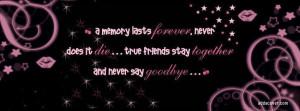 Never Say Goodbye Facebook