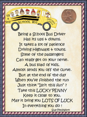 Bus Driver appreciation note and gift.