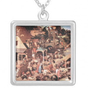 The Dutch proverbs by Pieter Bruegel Personalized Necklace