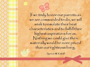 Honor thy parents