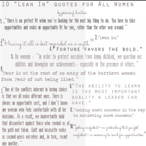 """10 """"Lean In"""" Quotes for All Women"""
