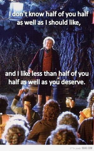 Bilbo's Eleventy-first birthday speech