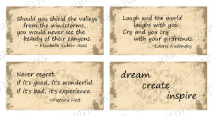 ... quotes sayings from women or about women in neutral tan parchment on
