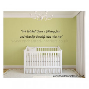 We Wished Upon a Shining Star Wall Sticker Quotes