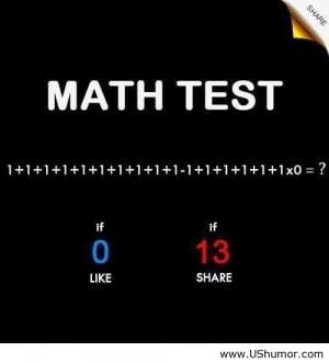 Math Test Like Share Funny Pictures Images Quotes Pictures