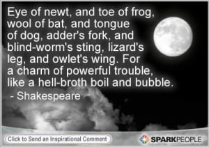 Motivational Quote by William Shakespeare, 'Witches in Macbeth'