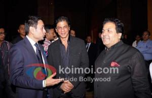 Shah Rukh Khan Rajiv Shukla At Rajiv Shukla's Party