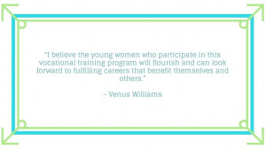 Venus Williams invites fans to help empower young women