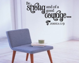 ... Christian Vinyl Wall Decal Mural Quotes Words Cl035bestrongii7