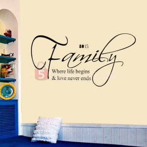 Details about Removable Letters Family Love Quote Art Sticker Home ...