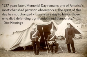 ... spirit of the day is to pay tribute to those who died for our country