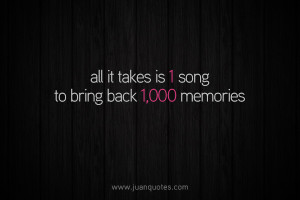 All it takes is 1 song to bring back 1,000 memories.