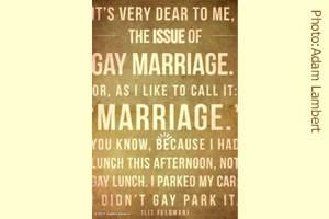 ... gay marriage, singers Adam Lambert and Lady Gaga tweet their support