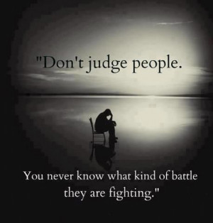 to the Romans said that [we shouldn't] pass judgment on others ...