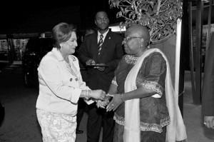 flashback prime minister kamla persad bissessar greets former minister ...