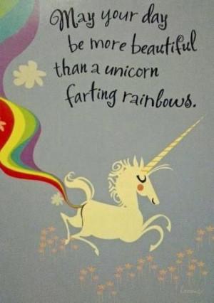 Unicorn Farts! #quote #rainbow