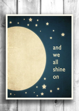 Moon and Stars Typographic print Inspirational by HappyLetterShop, $20 ...