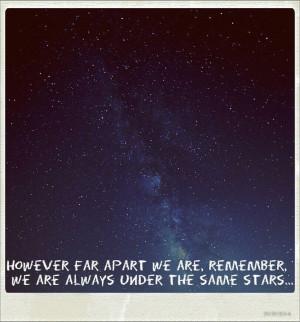 Under the same stars..
