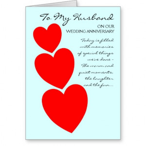 Happy Wedding Anniversary Husband Hearts Greeting Card