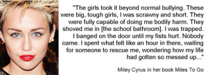 miley cyrus quotes about being yourself