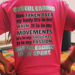 Cheerleading is my sport