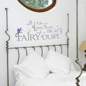Fairy Dust Quote Lavender Wall Decal Wall Decal
