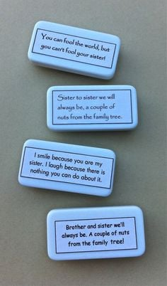 Domino Sister Brother Quote Magnet Gift Made in USA by YatsDomino