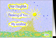 Thinking of you Estranged daughter Sunshine card - Product #857875