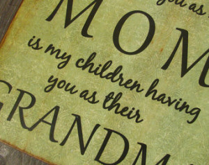 Distressed Wood MOM GRANDMA Quote Wall Sign - vintage green - the only ...