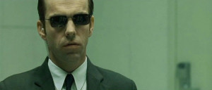 Photo of Hugo Weaving, who portrays Agent Smith in