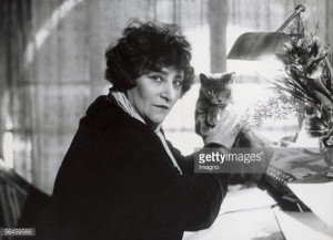 News Photo : Sidonie Gabrielle Colette , French writer, with...