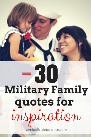 Military Family Inspirational Quotes