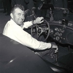 Carroll Shelby behind the wheel.