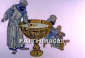 ... the Tabernacle, priests washed their hands in the giant bronze laver