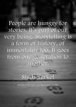 ... goes from one gerneation to another studs terkel # quotes # genealogy