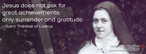 Quote from St. Therese