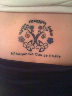 Gaelic Word Tattoos And Meanings Phrase: ni neart go cur le