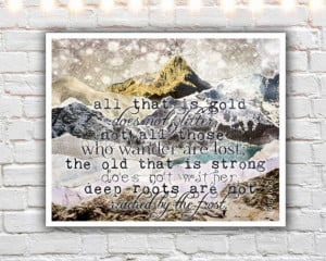 All That Is Gold - fine art print, lord of the rings, jrr tolkien ...