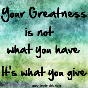 Quotes Greatness With