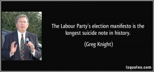 The Labour Party's election manifesto is the longest suicide note in ...