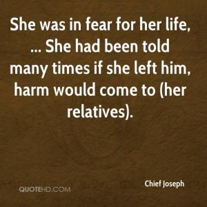 Chief Joseph Quotes