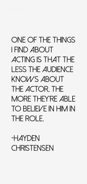 Hayden Christensen Quotes & Sayings