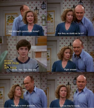 "... ""Romantic Weekend""(Red, Kitty and Eric about Kelso's parents"