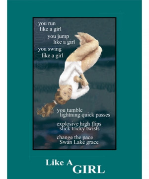Floor Ex Edition Tumble Like A Girl Poster