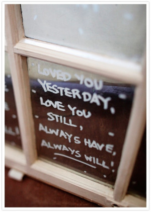 painted window quote & excellent sentiment