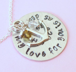 Anchor Necklace My Love for you is as deep as the by CrossEarth, $25 ...