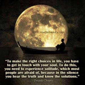 Deepak Chopra quote; photo credit Raw for Beauty