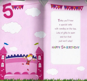 Happy 5th Birthday Quotes For Girls Quotesgram Happy 5th Birthday Wishes