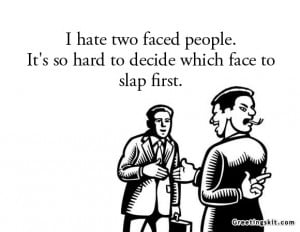 Introspective Wallpaper on Society: I hate two faced people